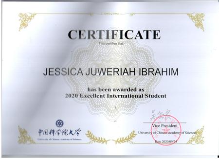 青岛能源所留学生获得2020年国科大优秀国际学生奖励